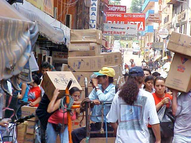 Semi-Naked Shopping in Ciudad del Este, Paraguay